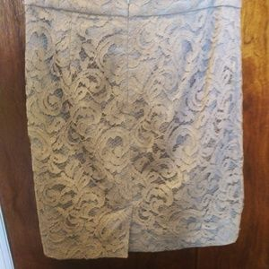 Banana Republic Skirts - Banana Republic Grey Lace Pencil Skirt